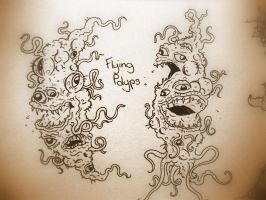 HP Lovecraft's Flying Polyps by Cryptdidical