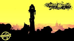 Borderlands 2 Wallpaper - Pirate Skyline by mentalmars
