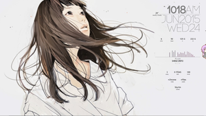 Tae Girl with Rainmeter by Iroaseta