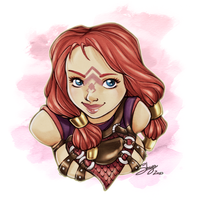Solathie bust +commission+ by 77Shaya77