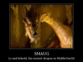 Lo and behold, the sexiest dragon in Middle-Earth! by Grievous-fangirl