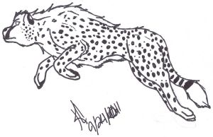 Cheetah Line Art by SpazzAttack96