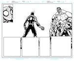 Avenging Spider Man 1 Pages 8 to 9 Pencils By Joe  by BigBlue2007