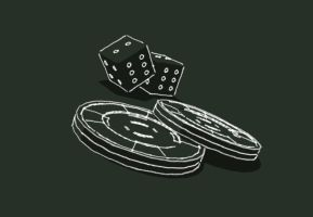 Casino dices and chips by Sckralchet