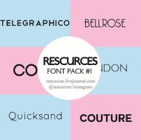 Font Pack #1 by rescurces