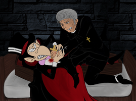 The exorcism of Dracula-kun! by Petunia43