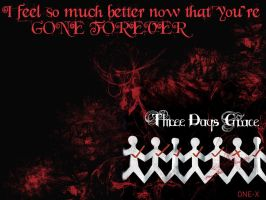 Three Days Grace One X by anythingforyou15