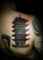 temple tattoo by virlaneduard