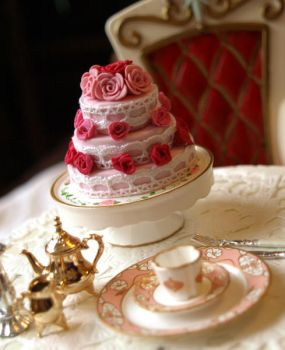 Rose Cake by ChocolateDecadence