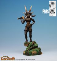Amazon Warrior Fern Painted by PureEvilMiniatures