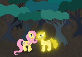 Request: Fluttershy and Fallen Star by white-tigress-12158