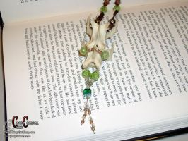 Green Vertebrae Necklace by SkullGrrl
