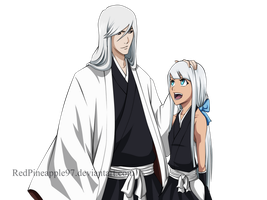 Bleach OC: Kamiya Rin and Ukitake Juushiro by RedPineapple97