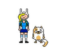 Adventure Time: Fionna and Cake by Silverhammer37