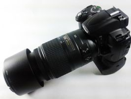 Nikon D5000 with 55-300mm Lens by archaznable30
