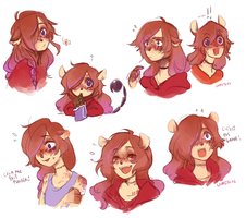 [whee] Aurore expressions by D-Kitsune