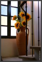 Art Deco and sunflowers by Arte-de-Junqueiro