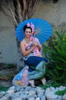 Thai Lady and Parasol by AndySerrano