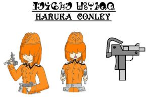 Haruka Conley - FC Reference Sheet - Weapons by Hexidextrous