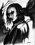 The-crow-watercolor by simon-artist