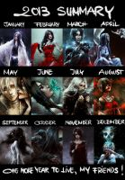 2013 Summary Art by NanFe