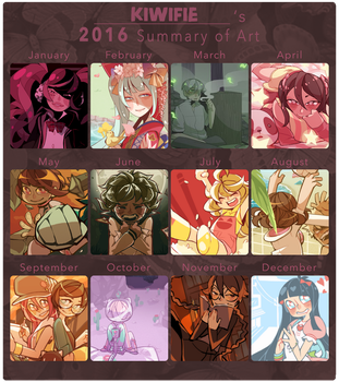 2016 Summary of Art by Kiwifie