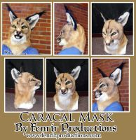 Realistic Caracal Fursuit Head by valdyrfenrisdottir