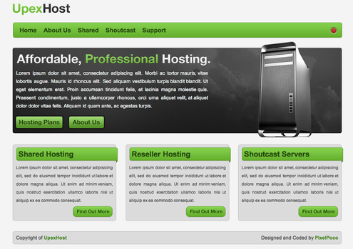 UpexHost Design by KyleBolton