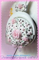 Sweet Flower Deco Headphones by CandyStripedCafe