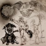 Dark Oz Character Sketches by gregbo