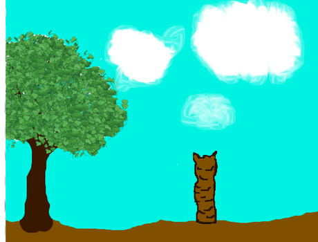 The Cat and the Tree by MoonfrostWarrior