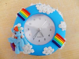 Rainbow Dash Sonic Rain Boom Time Clock! by NamineEveningLight