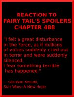 Reaction to the Fairy Tail's Chapter 488 by Djehouty