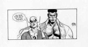 Ironfist and PowerMan. by Andrew-Robinson