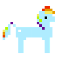 Rainbow Dash 8-Bit Vector by LeviDragon