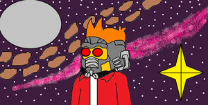 Fry as Starlord by scifiguy9000