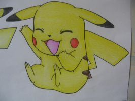 Pikachu Drawing 2- Colour by sazmullium