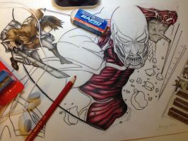 Attack on Titan Wip by HIlaRie126