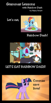 Grammar Lessons with Rainbow Dash by HappyCamperCreations