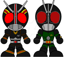 Chibi Black and Black RX by Zeltrax987