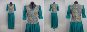 Blue/Teal Fantasy Dress by Manwariel