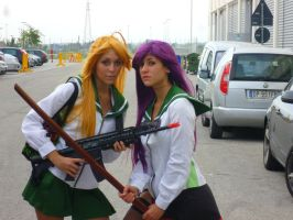 High School of the Dead - Saeko and Rei by LadyGrell93