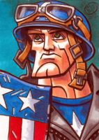 Captain America First Avenger Sketch Card by Chad73