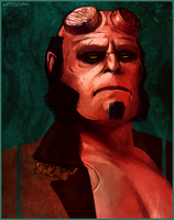 Hellboy by Weissidian