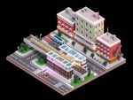 Voxel City Scene 004 by gendosplace