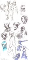 Pen and Copic Doodles by Kiqo7