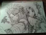 Natsu and Lucy by IBreakYourNeck