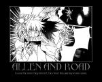 D.Gray-Man Allen and Road by Onikage108