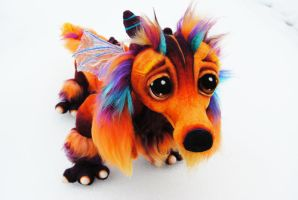 Dashchund Fire Dragon by Tanglewood-Thicket