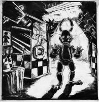 Five nights at Freddy's fan art 2 by FearOfPaper